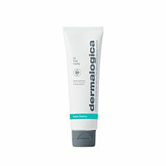 Oil Free Matte SPF30 van Dermalogica: een 2-in-1 breedspectrum zonbescherming en matterende moisturizer dat glimmen en voortijdige veroudering tegengaat bij een vette, acnegevoelige huid.